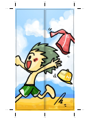 Beach Bookmark Template