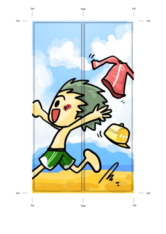 Beach Bookmark Template Printable pdf