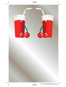 Cherry Drink Bookmark