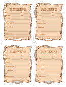 Old Fashioned Receipt Template