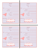 Craft Show Receipt Template