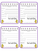 Tooth Fairy Cash Receipt Template