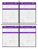 Auction Receipt Template - Color