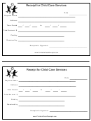 Receipt Template For Child Care Services
