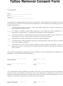 Tattoo Removal Consent Form