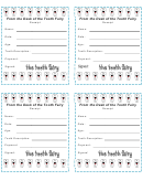 Tooth Fairy Receipt Template