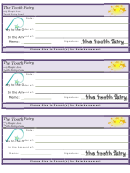 Tooth Fairy Check Template