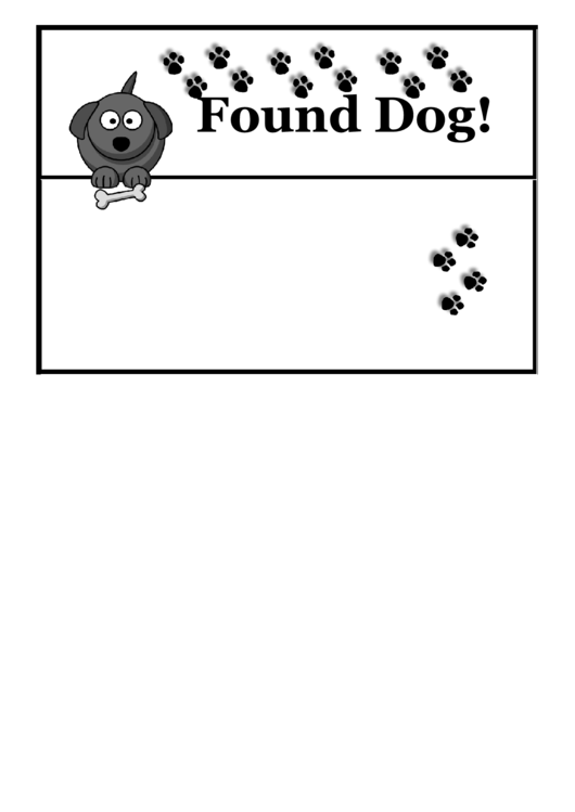 Found Dog Poster Template Printable pdf