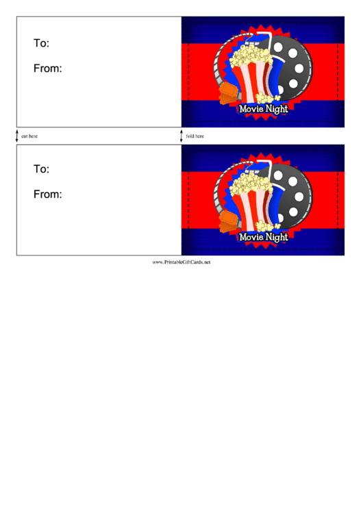 Movie Night Invitation Template Printable pdf