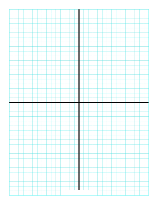 1cm Graph Paper With X And Y Axis Printable pdf