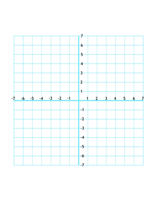 Numbered Graph Paper With X And Y Axis Printable Pdf Download