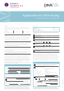 Application Form For Dna Testing