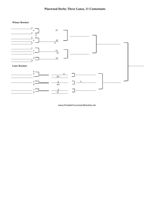 pinewood derby double elimination bracket template