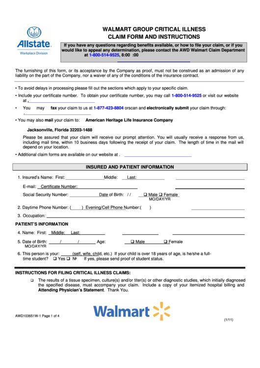 Top 5 Walmart Application Form Templates free to download in PDF ...