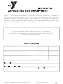 Application For Employment - Ymca