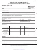 Application For Employment Form (pre-employment Questionnaire)