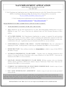 Naf Employment Application Form