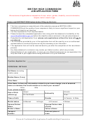 British High Commission Job Application Form