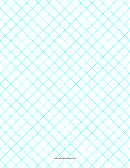 1cm Grid Paper Turquoise Lines