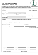The University Of Lahore Employment Application Form