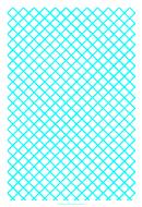1cm Aqaumarine Grid