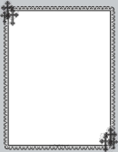 Christian Black Cross Page Border Template