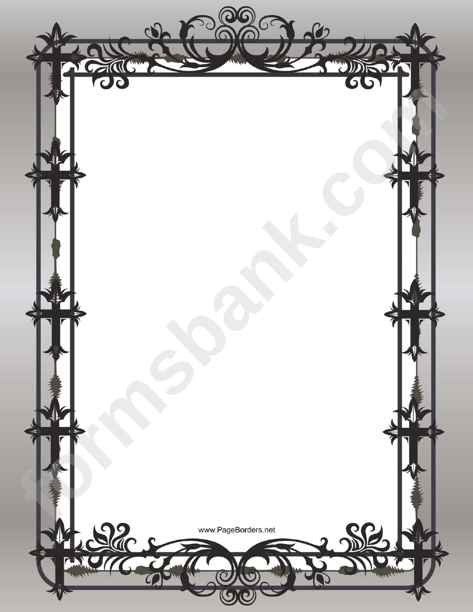 Black Christian Cross Page Border Template Printable Pdf
