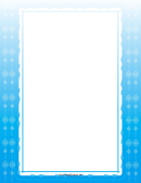 Blue Christian Cross Page Border Template