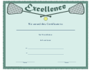 Lacrosse Certificate Of Excellence Template