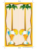 Palm Tree And Fuzz Bookmark
