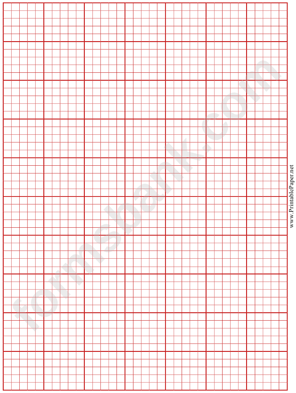 Ecg Paper (Red On White)