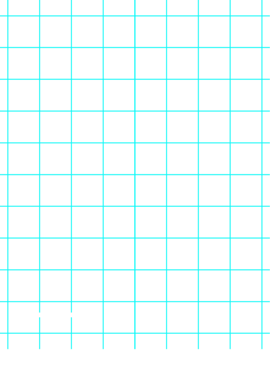 Grid Paper With One Line Per Inch (thick Lines, Blue)