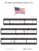 The Stars And Stripes Forever, Trio Music Sheet