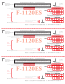 Form F-1120es - Declaration/installment Of Florida Estimated Income/franchise And Emergency Excise Tax For Taxable Year Beginning On Or After - 2011