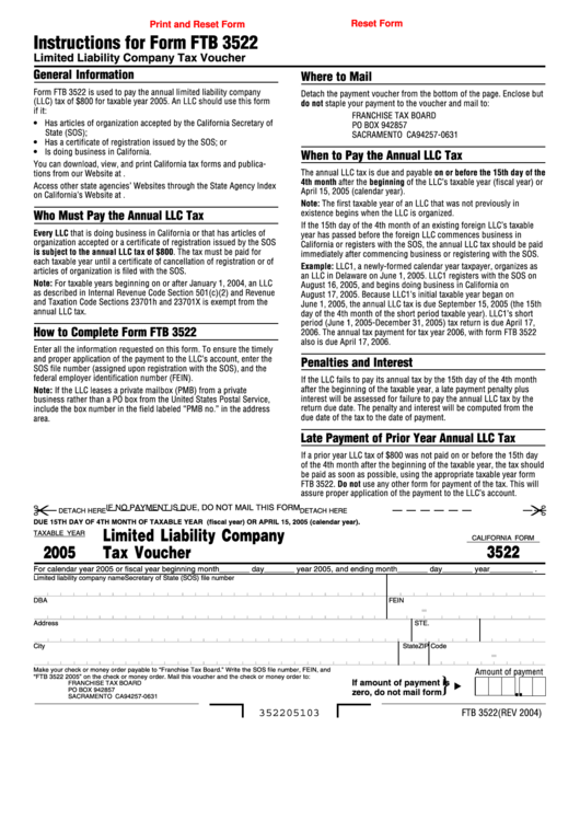 california llc tax voucher 2016