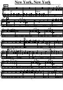 John Kander/fred Ebb - New York, New York Music Sheet