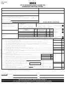 Form Mh-1040 - City Of Muskegon Heights Income Tax Nonresident Individual Return - 2002