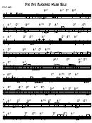 Miles Solo - Bye Bye Blackbird Sheet Music