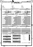 Pumonca Character Sheet