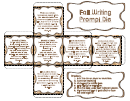 Fall Writing Prompt Die Paper