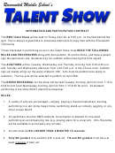 Talent Show Act Information Form
