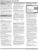 California Form 541-es - Estimated Tax For Fiduciaries - 2009