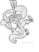 Rapunzel And Flynn Coloring Page