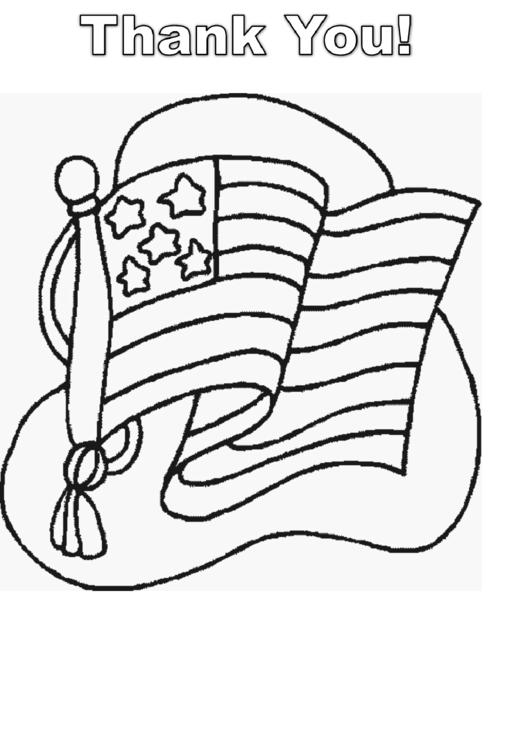 Usa Flag Coloring Sheet