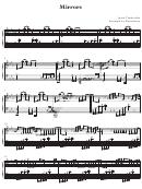Mirrors - Piano Music Sheet