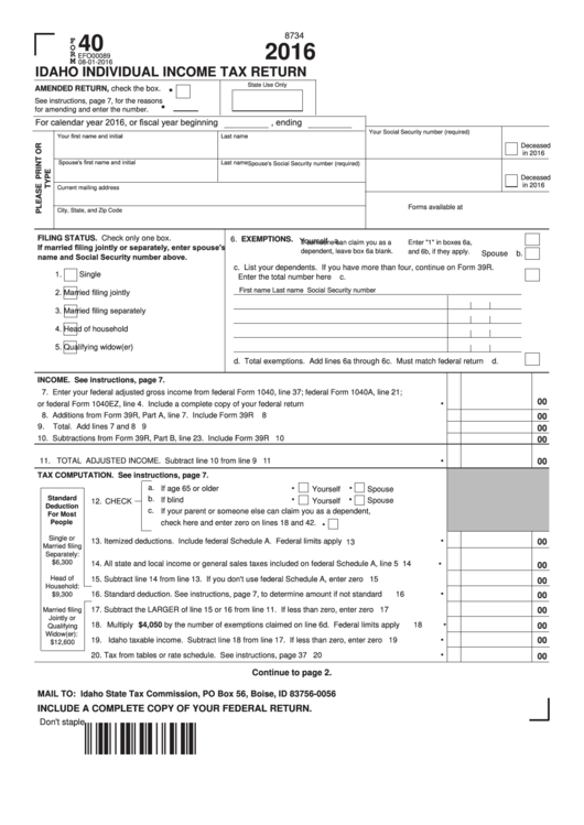 individual tax return instructions supplement 2016 pdf