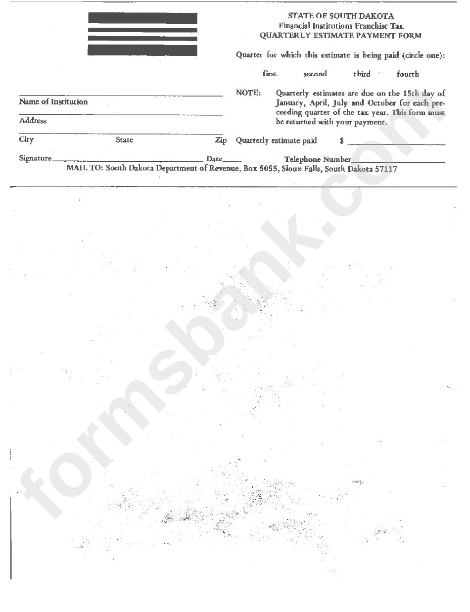 Quarterly Estimate Payment Form