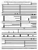 Formulario Ss-4pr - Solicitud De Numero De Identificacion Patronal (ein) (spanish Version) - 2017