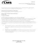 Form Cms-10106 - Autorization A 1-800-medicare Para La Divulgacion De Informacion Medica Personal (spanish Version)