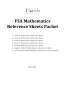 Fsa Mathematics Reference Sheets - 2017/18